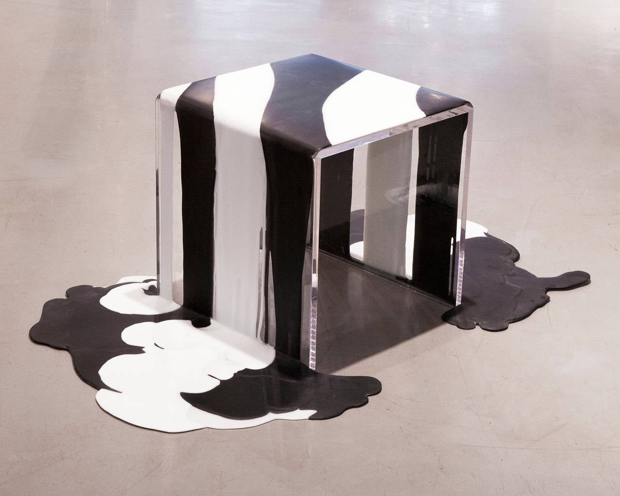 American Poured Resin Side Tables in the Manner of Lynda Benglis
