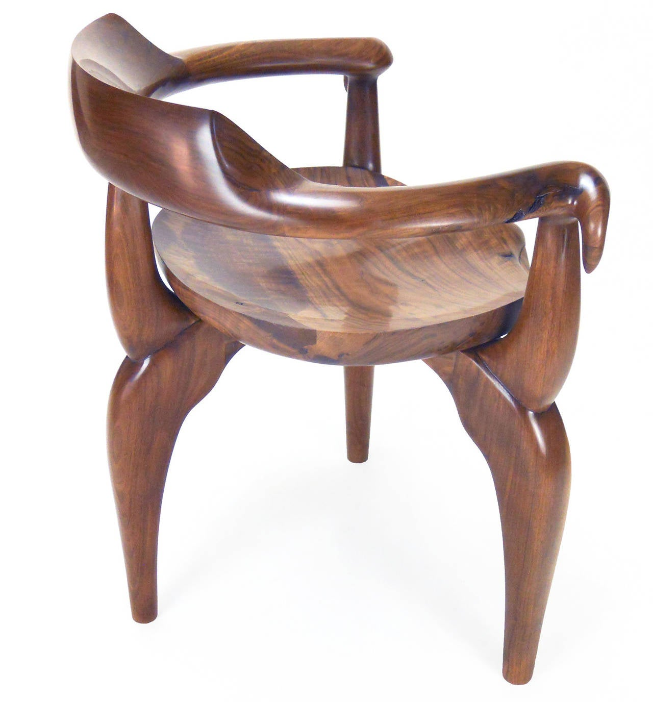 Hand-Carved Organic Armchair For Sale at 1stdibs