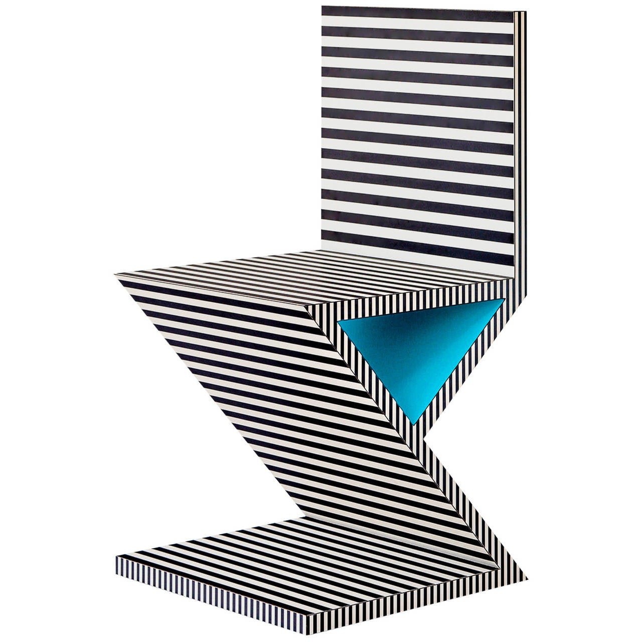 Memphis Inspired Chair, Neo Laminati Collection For Sale