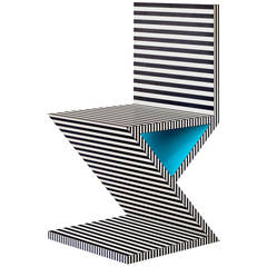Memphis Inspired Chair, Neo Laminati Collection
