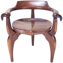 Hand-Carved Organic Armchair