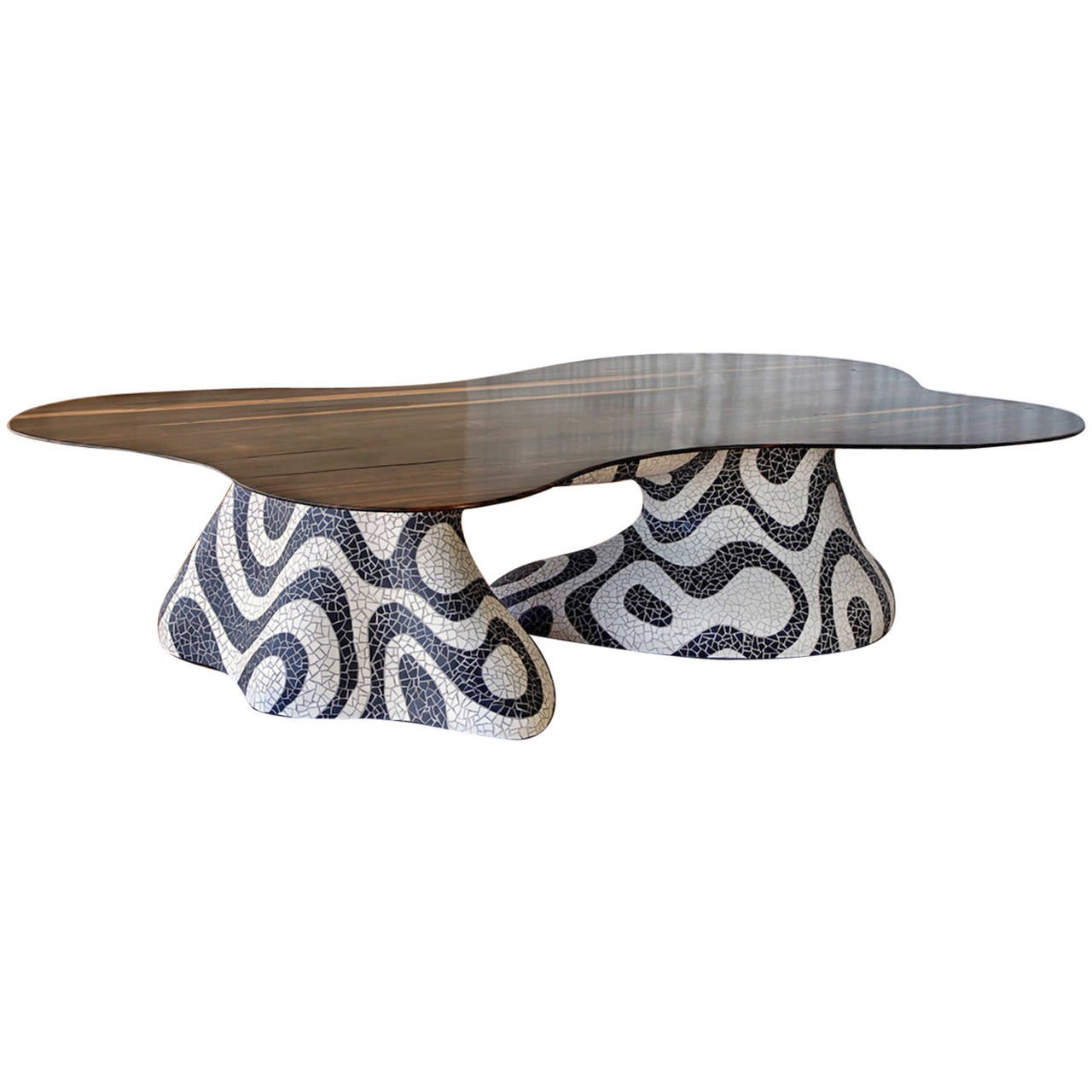 Organic Dining Table with Base in the Manner of Roberto Burle Marx