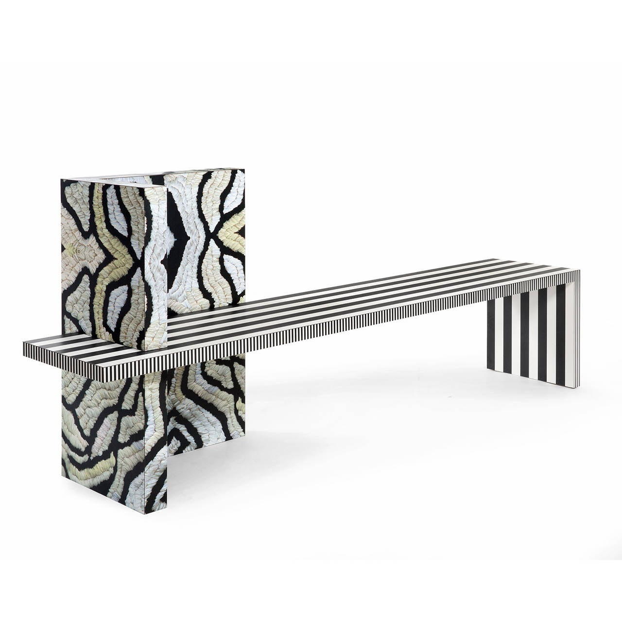 American Memphis Inspired Bench Neo Laminati Collection For Sale