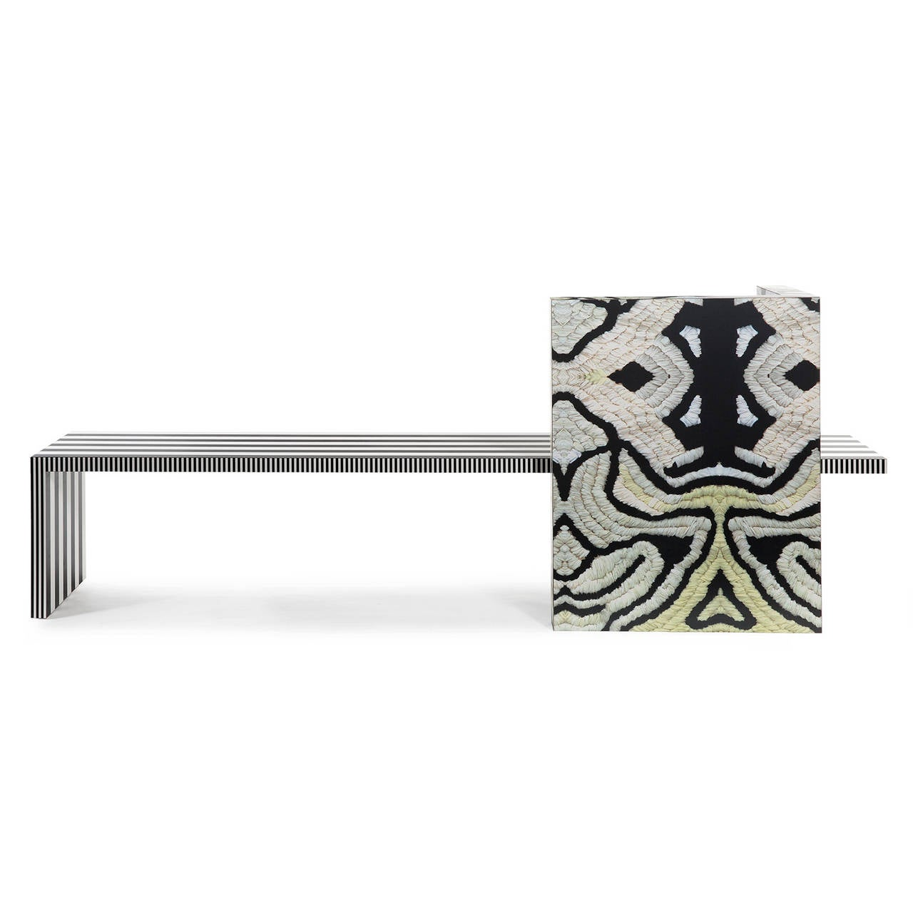 Laminate Memphis Inspired Bench Neo Laminati Collection For Sale