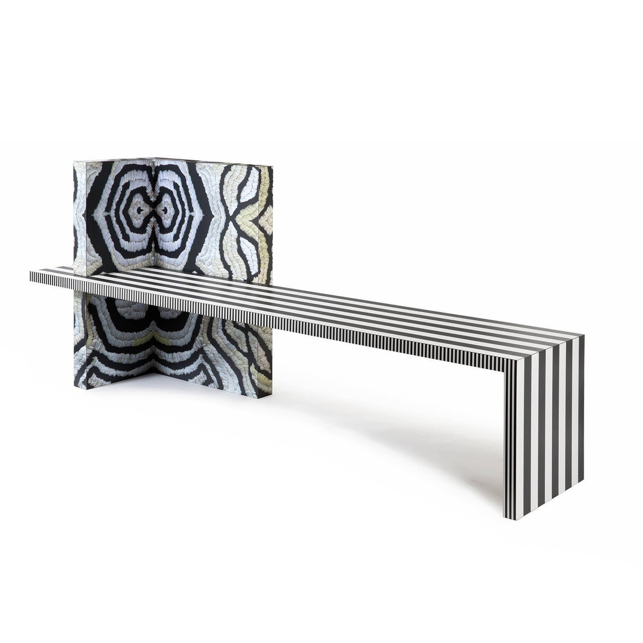 Memphis Inspired Bench Neo Laminati Collection For Sale 2