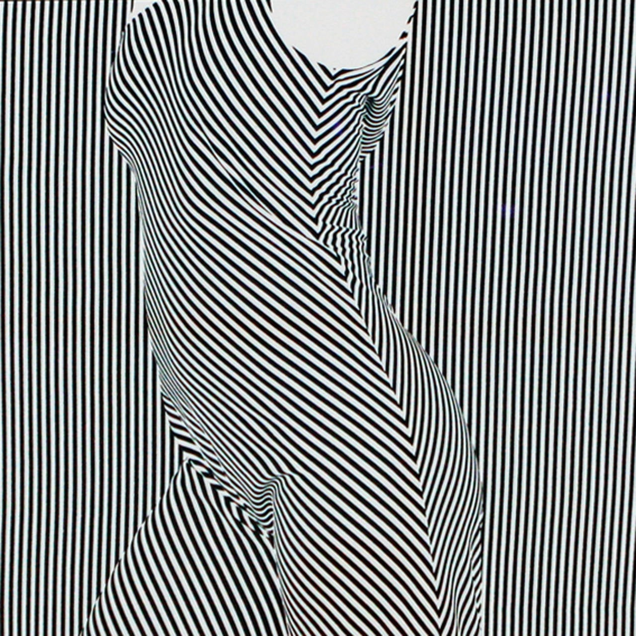 Uniquely framed op art lithograph, signed and numbered by the artist. First in an edition of 100.  Seeley's images have appeared in numerous U.S. and European publications including; Camera, Zoom, Graphis, and Photographis Annuals, American