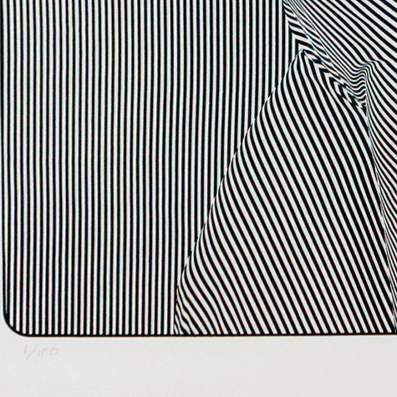 Op Art Lithograph, J Seeley In Excellent Condition For Sale In New York, NY