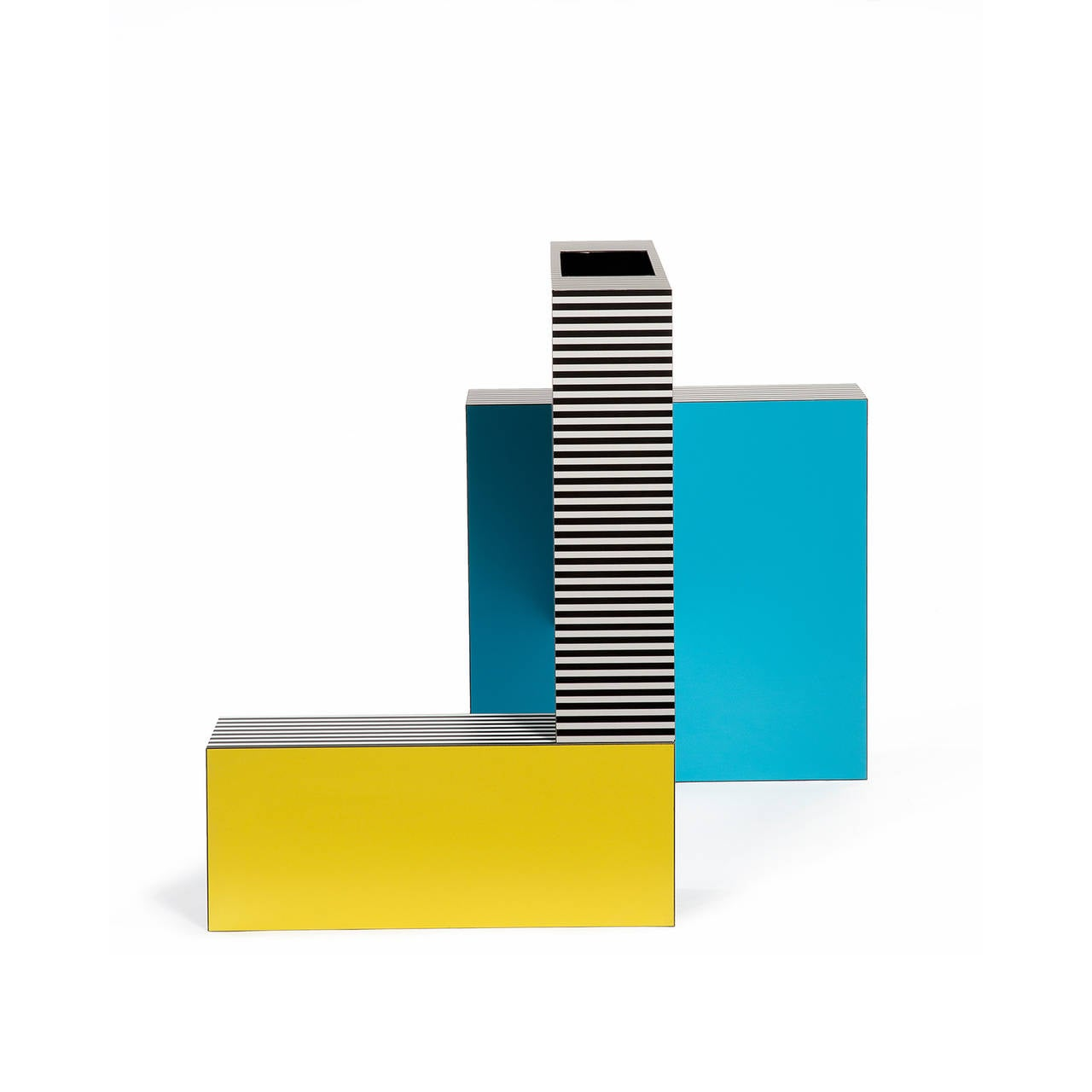 Laminate Memphis Inspired Vessel from the Neo Laminati Collection For Sale