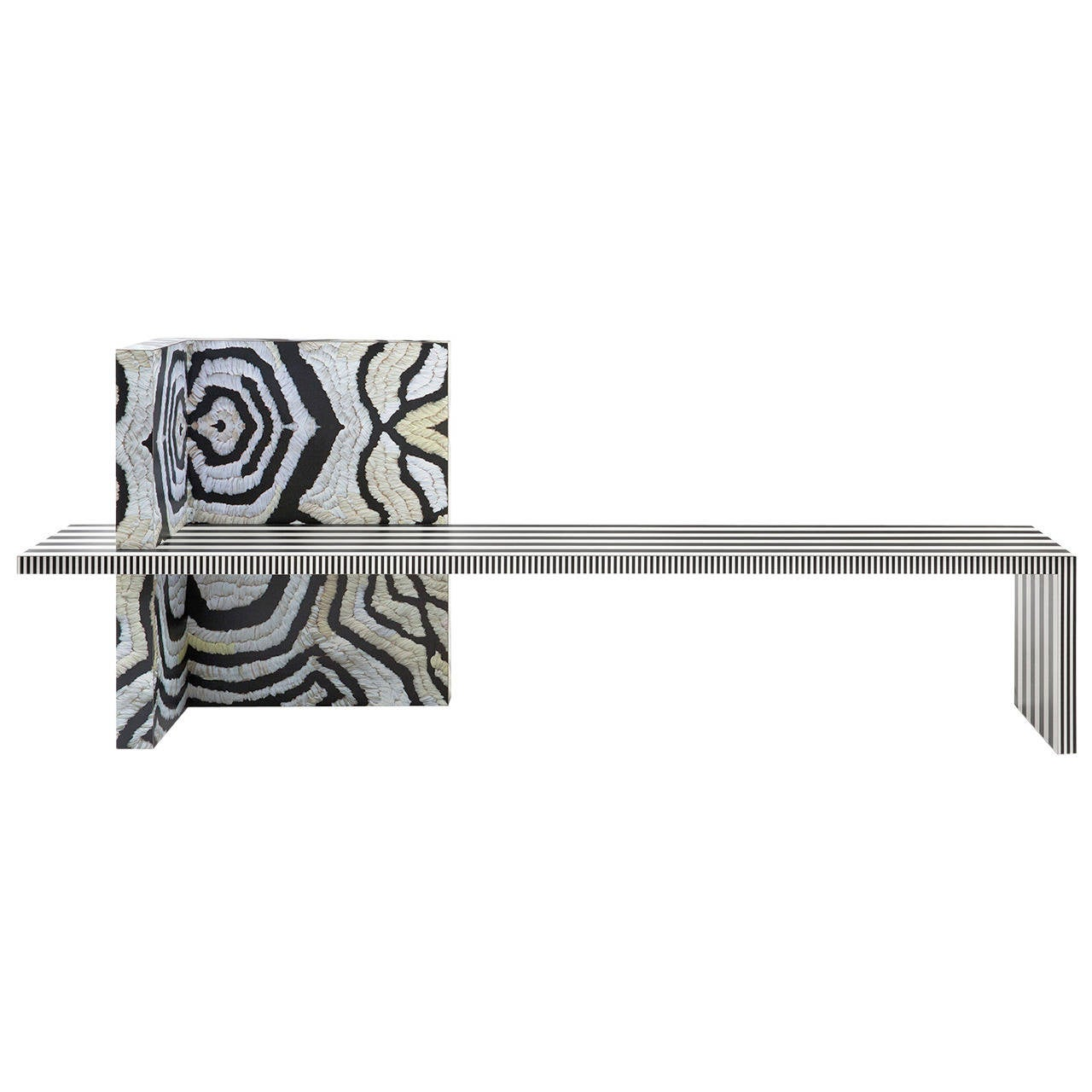 Memphis Inspired Bench Neo Laminati Collection For Sale