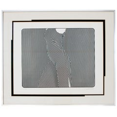 Op Art Lithograph, J Seeley