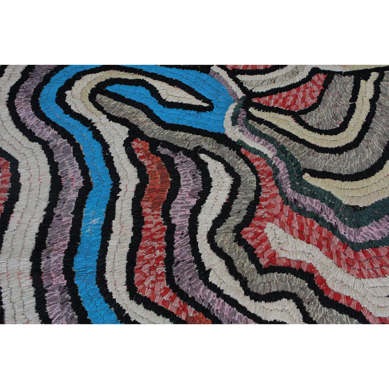 Moroccan Tribal Rag Rug For Sale 1