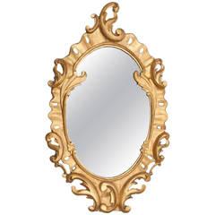 19th Century Giltwood Oval Mirror