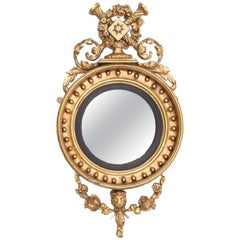 Early 19th Century Regency Giltwood Convex Mirror