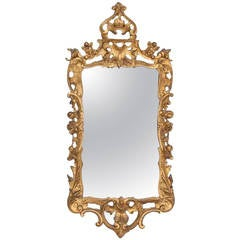 18th Century George III Carved Giltwood Mirror