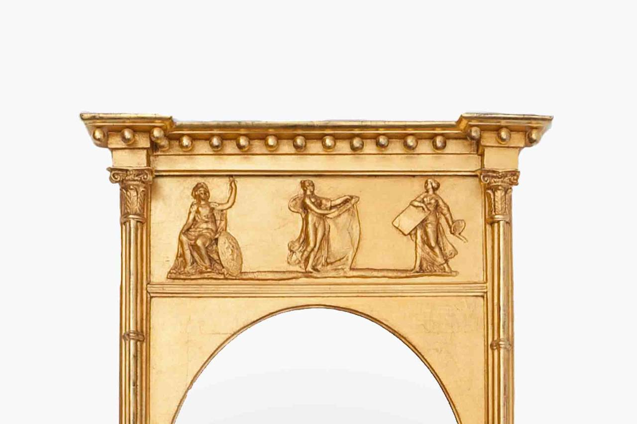 19th Century Regency Carved Giltwood Mirror For Sale At