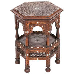 19th Century Regency North African Mahogany Occasional Table