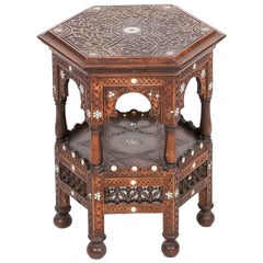 Early 19th Century Regency North African Mahogany Hexagonal Occasional Table