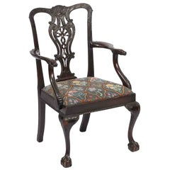 18th Century Irish Occasional Chair after Chippendale