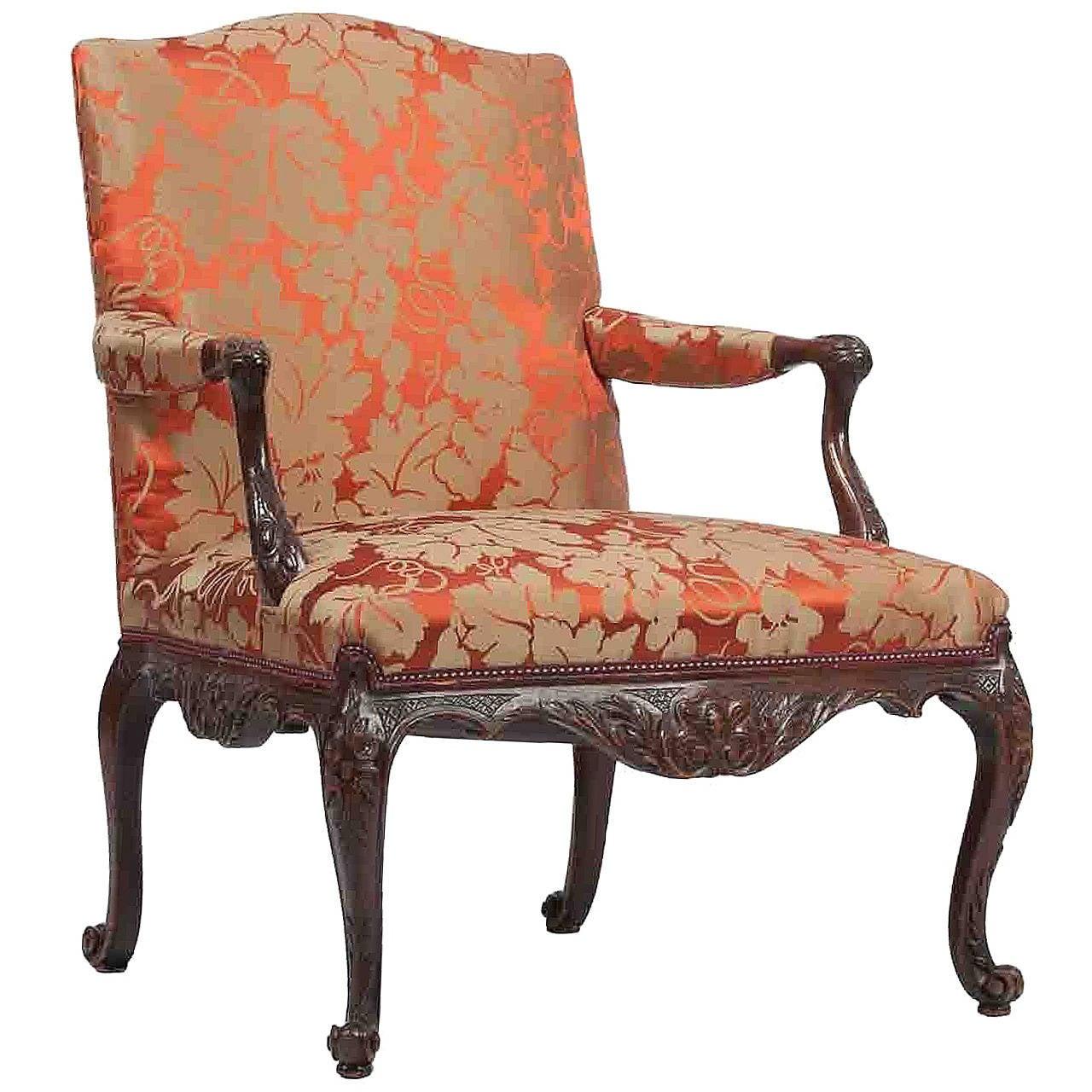 Ordinaire 18th Century Mahogany Library Chair