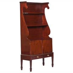 19th Century William IV Miniature Waterfall Mahogany Bookcase
