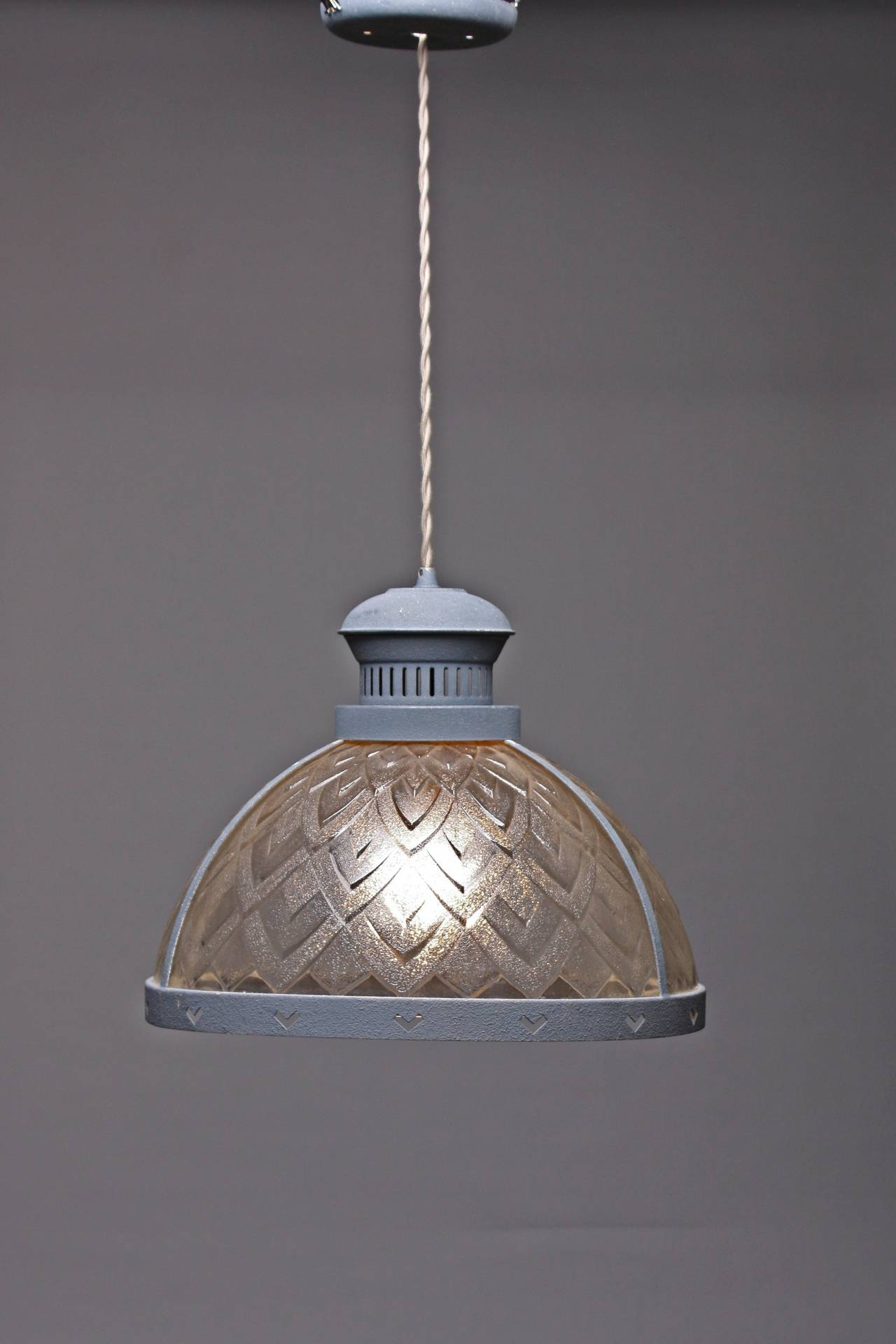 1950s Pressed Glass Kitchen Light For Sale at 1stdibs