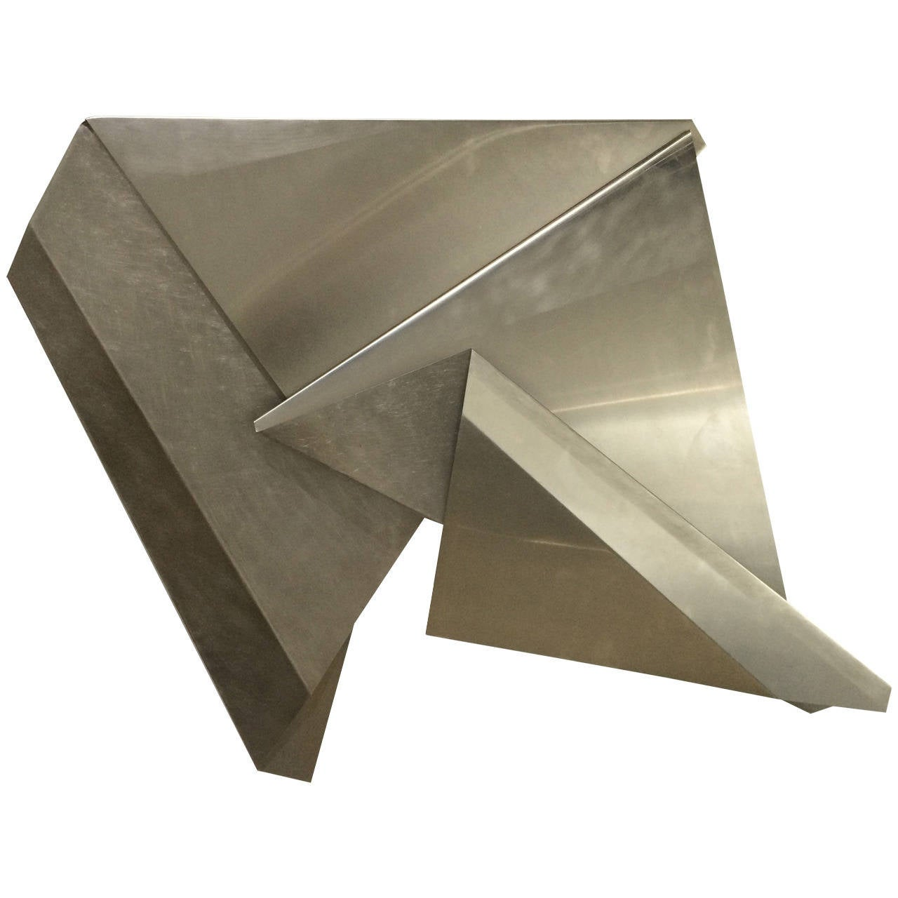 Marsha lega folded stainless steel wall sculpture for sale for Stainless steel wall art