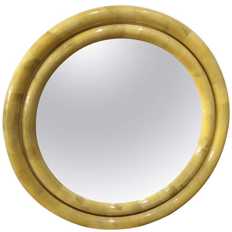 Karl Springer Goatskin Mirror For Sale