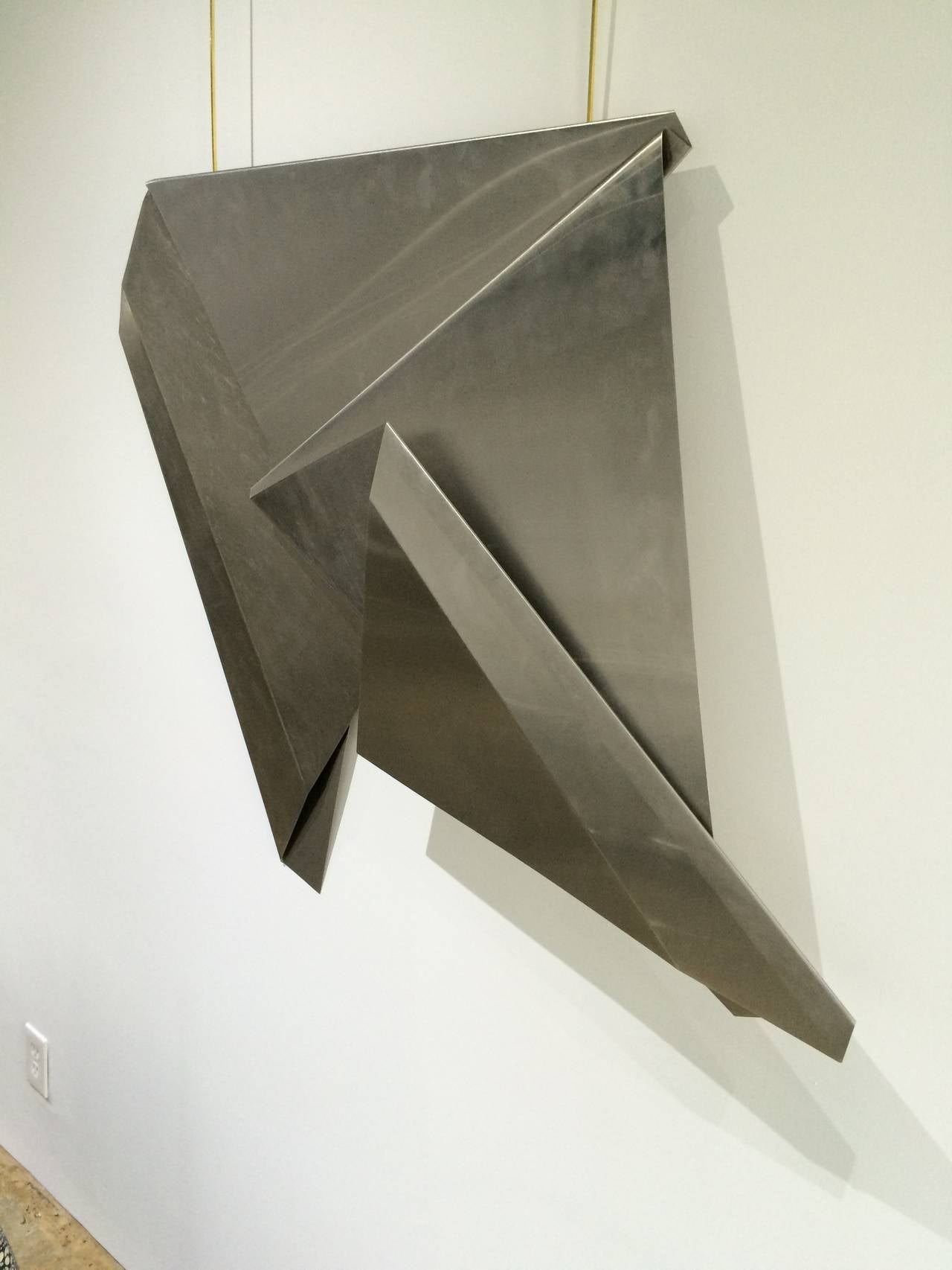 Marsha lega folded stainless steel wall sculpture at 1stdibs for Stainless steel wall art
