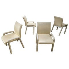 "Set of Four Guido Faleschini ""Dilos"" Dining Chairs by i4 Mariani for Pace"