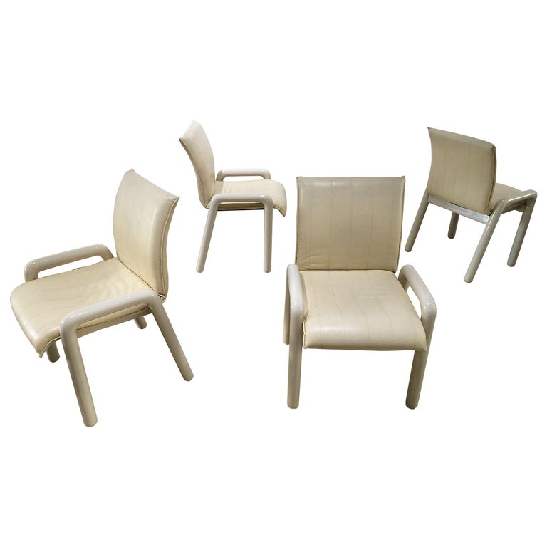 "Set of Four Guido Faleschini ""Dilos"" Dining Chairs by i4 Mariani for Pace For Sale"