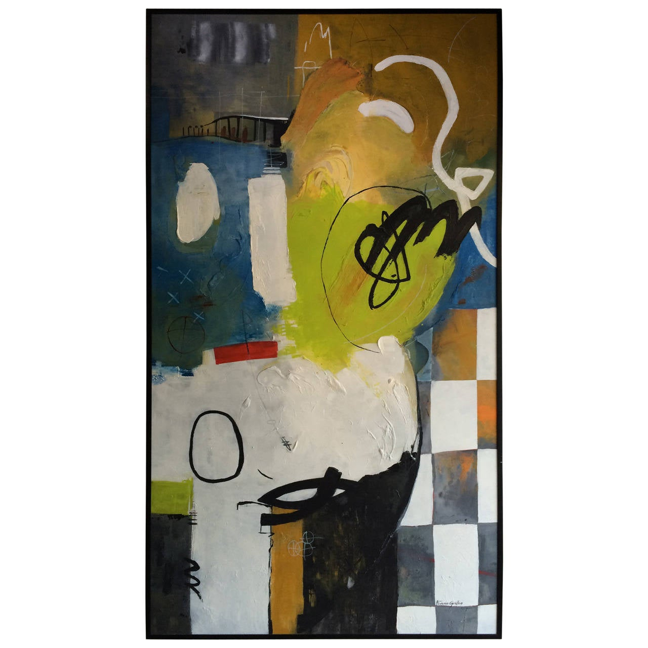 Federico Guillen Large Abstract Painting For Sale