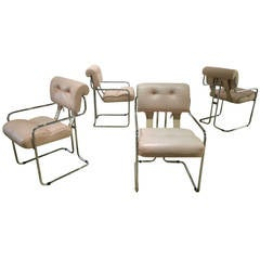 "Set of Four Guido Faleschini ""Tucroma"" Dining Chairs by i4 Mariani for Pace"