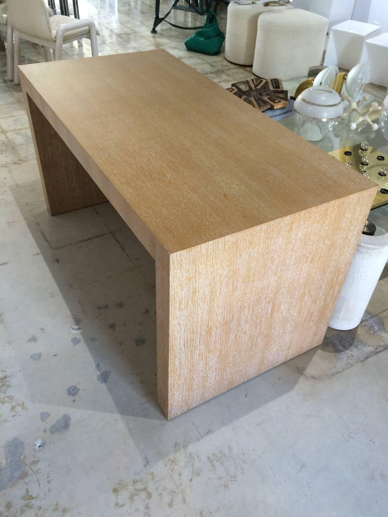 """Giorgio Armani """"Cambridge"""" Desk in Cerused White Oak at 1stdibs"""