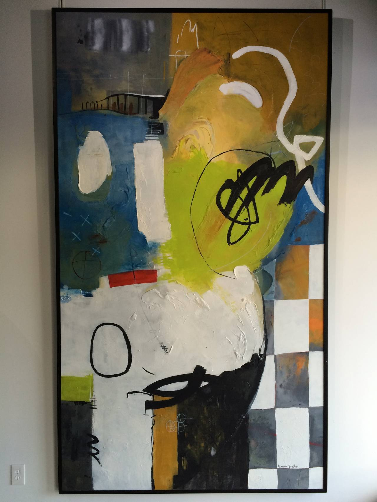 Large abstract painting by Miami artist Federico Guillen.