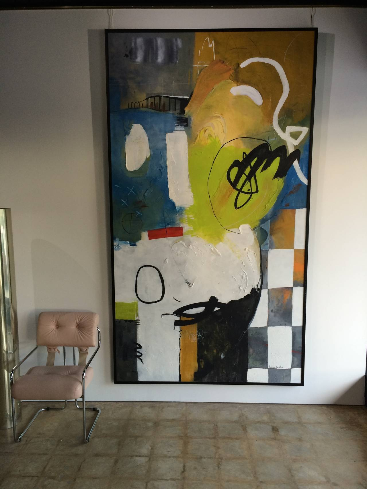 Expressionist Federico Guillen Large Abstract Painting For Sale