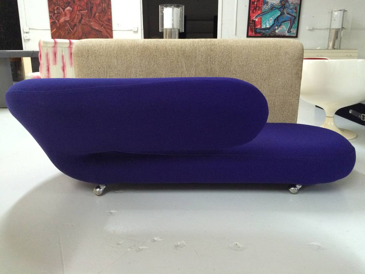 Geoffrey harcourt cleopatra chaise lounge for artifort for Artifort chaise lounge
