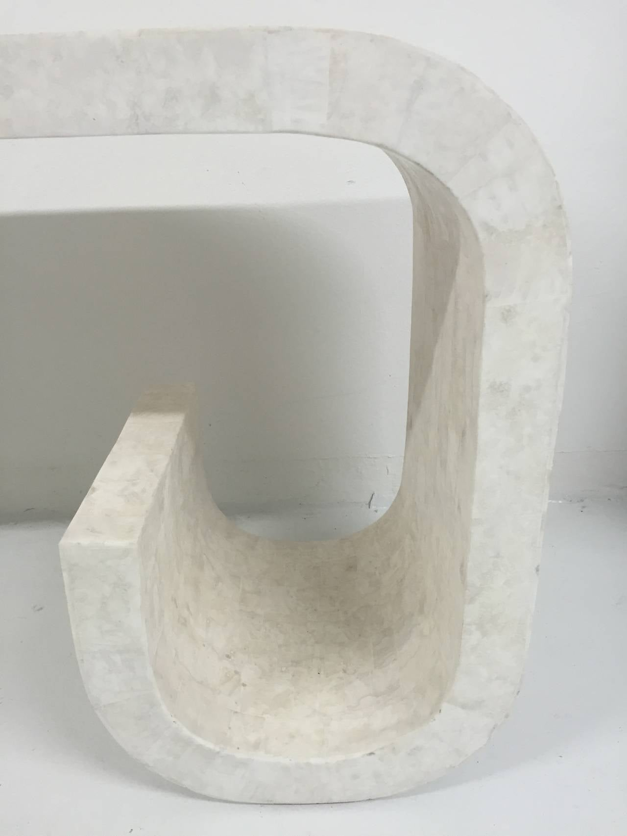 Kelly Wearstler Tessellated Marble Console Table At 1stdibs