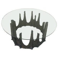 "Paul Evans Brutalist ""Stalagmite"" Coffee Table"