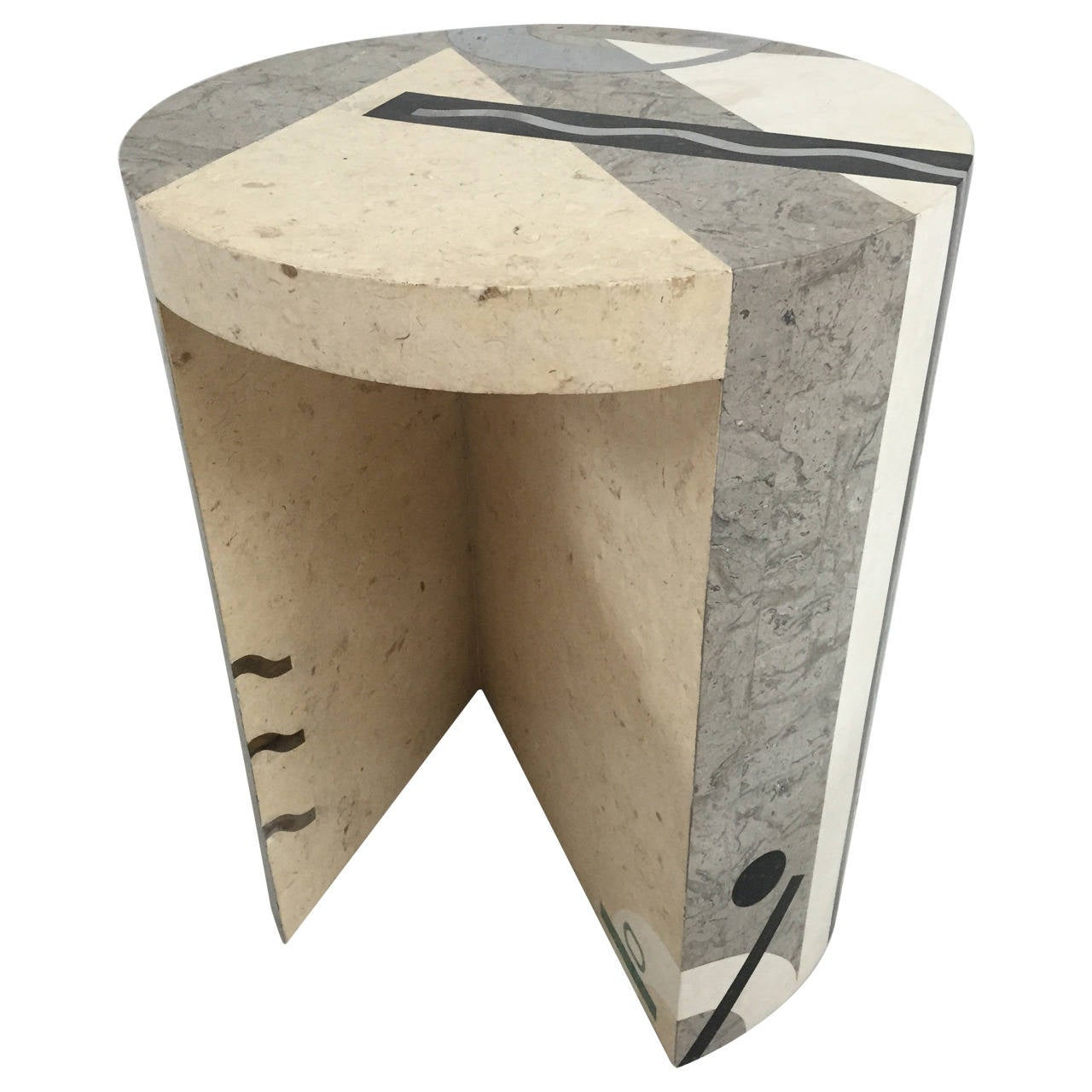 Tavola Tessellated Side Table by Oggetti 1