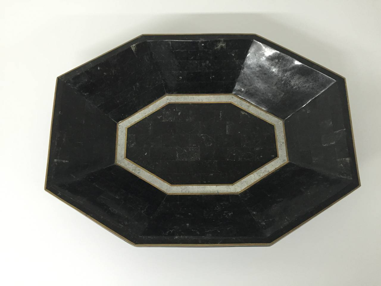 Late 20th Century Maitland-Smith Tessellated Marble Bowl For Sale