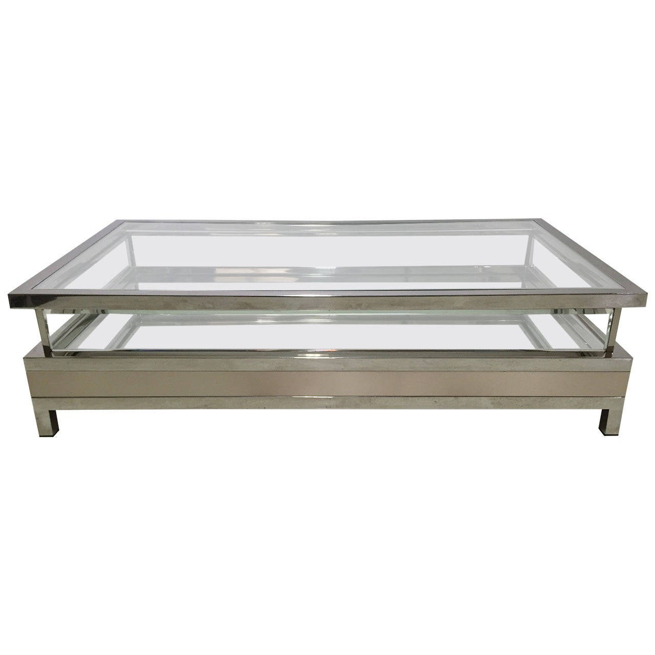Lane Sliding Door Coffee Table: Maison Jansen Coffee Table With Sliding Top At 1stdibs