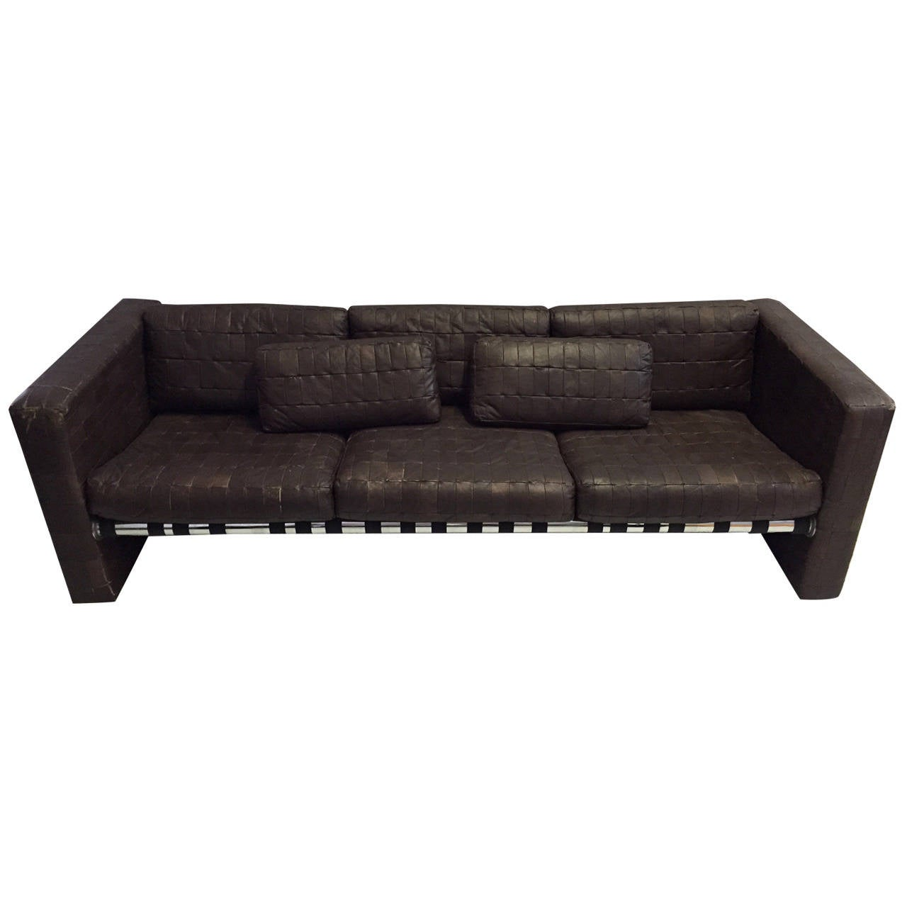 de sede leather patchwork sofa for sale at 1stdibs. Black Bedroom Furniture Sets. Home Design Ideas