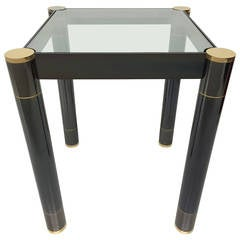 Karl Springer Gunmetal and Patinated Brass Table