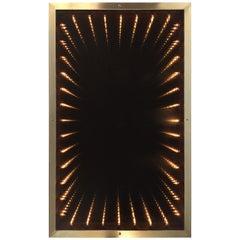 1970s Italian Modern Infinity Mirror