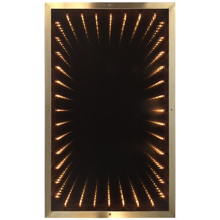 1970s Italian Modern Infinity Mirror For Sale