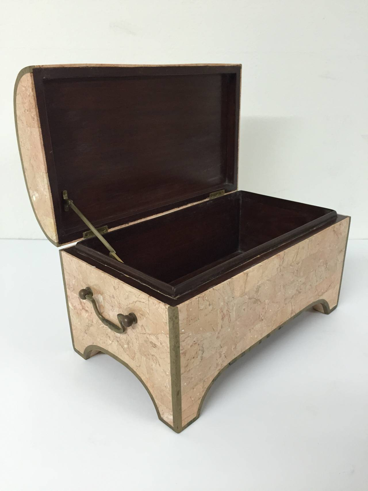 Philippine Maitland-Smith Tessellated Marble Jewelry Box For Sale