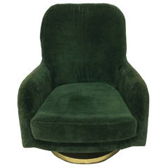 Original Milo Baughman Swivel Lounge Chair for Thayer Coggin