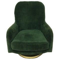 Original Milo Baughman Swivel Lounge Chair for Thayer Coggin