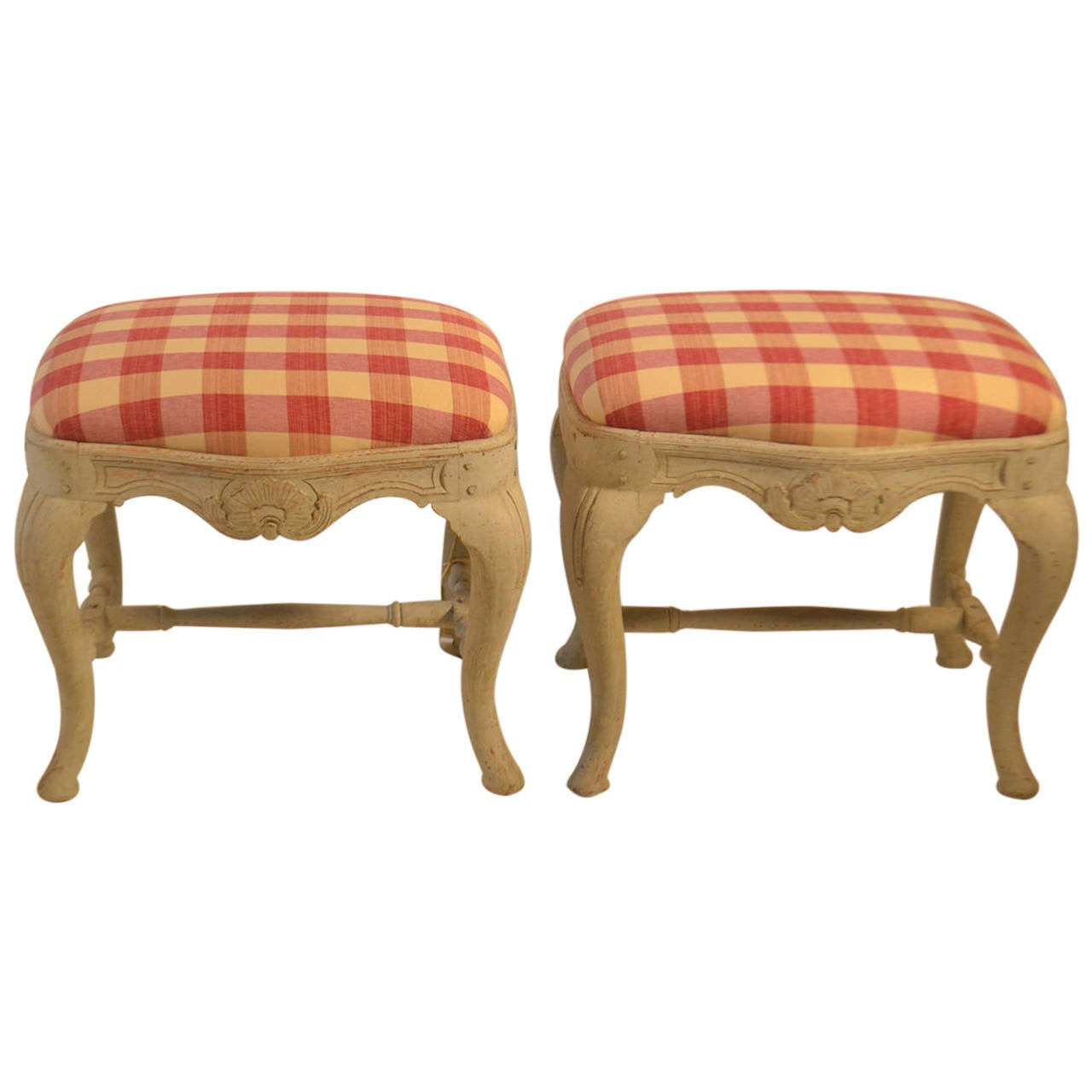 19th Century Pair of Swedish Footstools