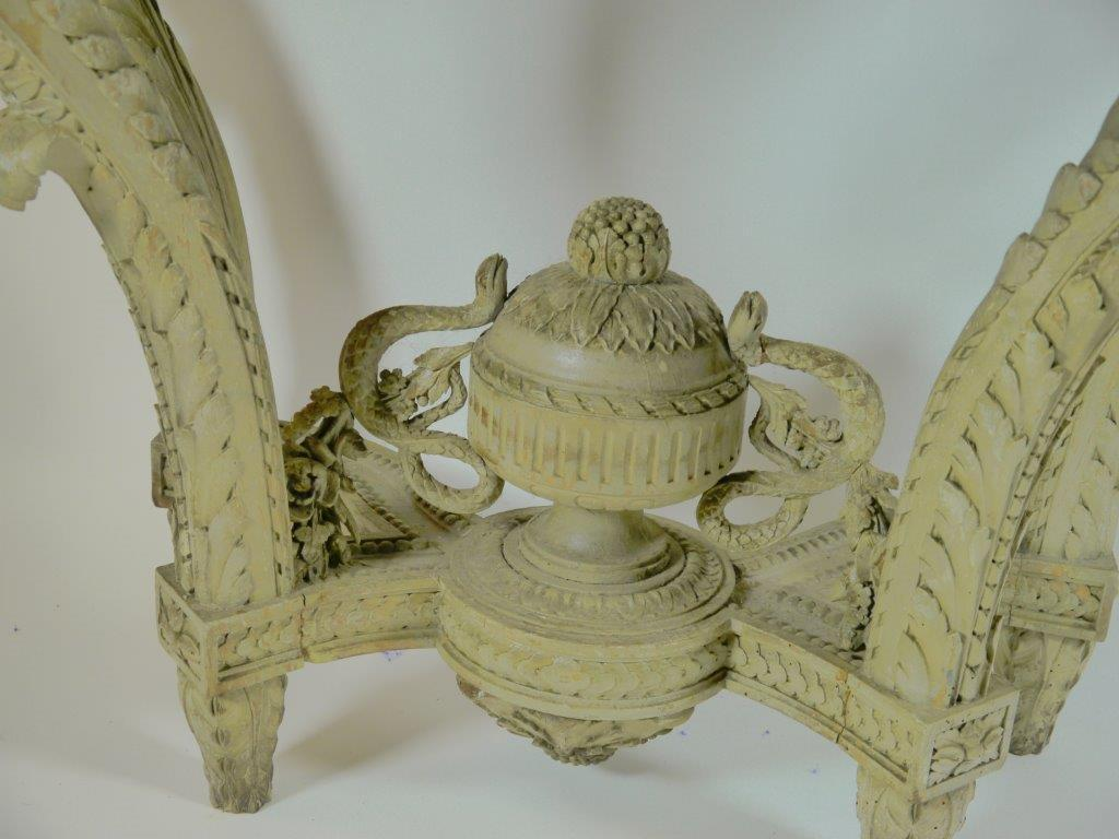 European Louis XVI Carved Wood Console Table For Sale